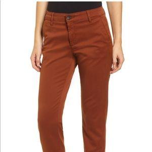 AG cognac colored crop pants